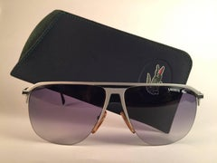 New Vintage Lacoste Grey Oversized 1980's Sunglasses Made in France