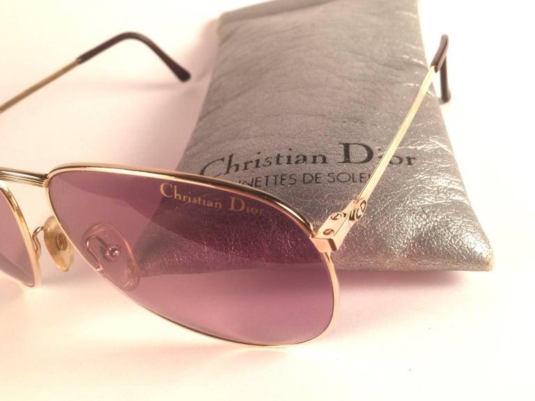 1d51bfb90cf Men s New Vintage Christian Dior Monsieur 2252 Gold Frame Optyl Germany  Sunglasses For Sale