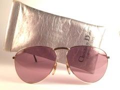 New Vintage Christian Dior Monsieur 2252 Gold Frame Optyl Germany Sunglasses
