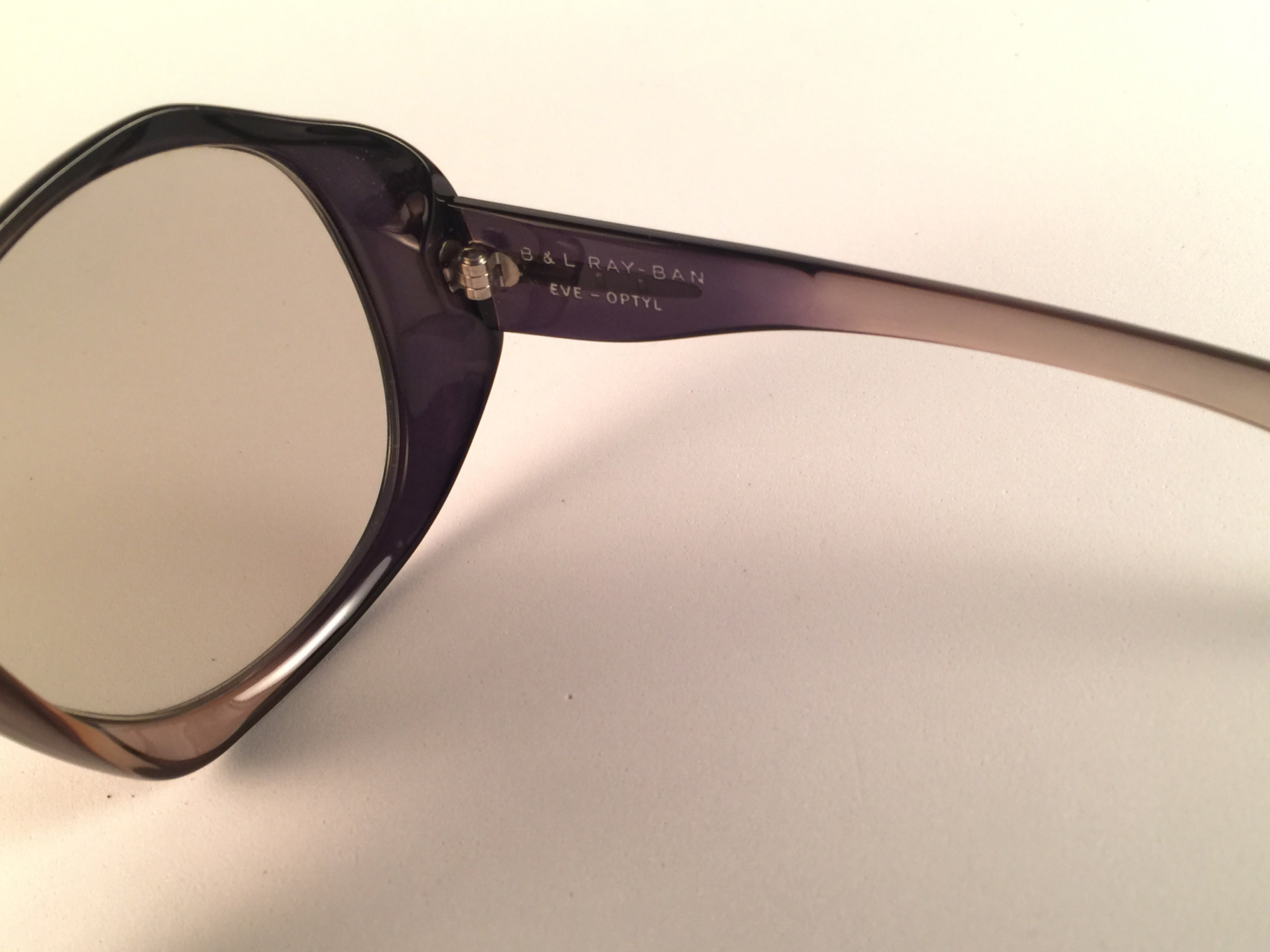 f51f24f29a9a7 New Ray Ban Oversized Eve Clear Lenses B L USA Sunglasses For Sale at  1stdibs