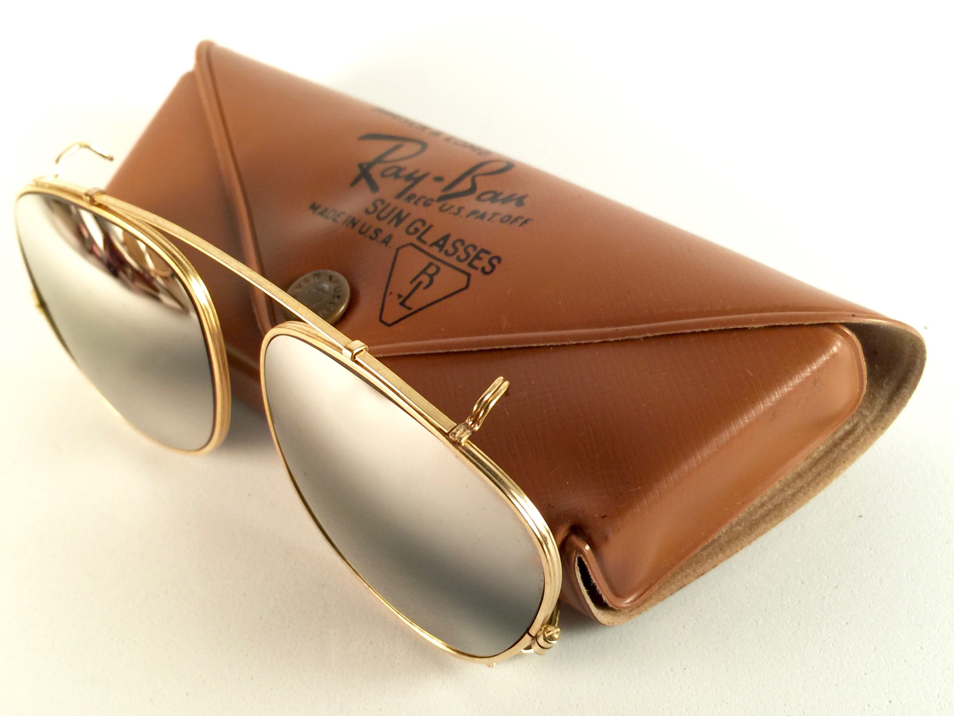 649b31436e4 New Vintage Ray Ban B L Clip On Deep Freeze For Sunglasses Collectors Item  USA For Sale at 1stdibs
