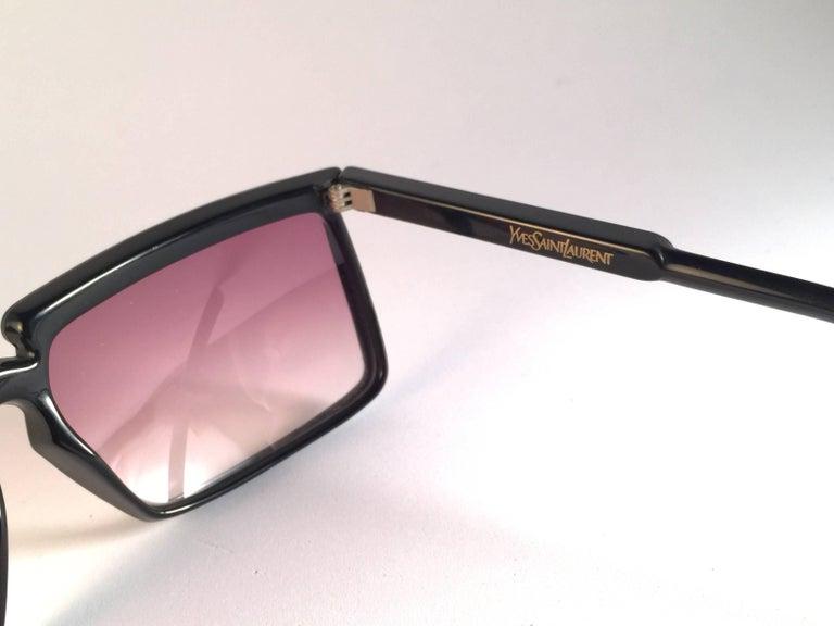 Women's or Men's New Vintage Yves Saint Laurent YSL 7951 1980 France Sunglasses For Sale