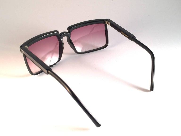 New Vintage Yves Saint Laurent YSL 7951 1980 France Sunglasses For Sale 2