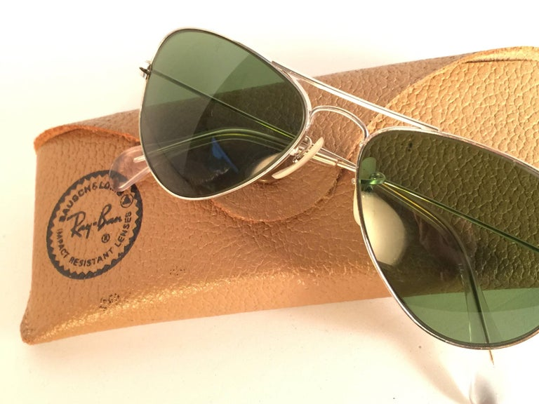 Women's or Men's New Vintage Ray Ban Aviator 12K Gold Grey Lens Kids Edition B&L Sunglasses
