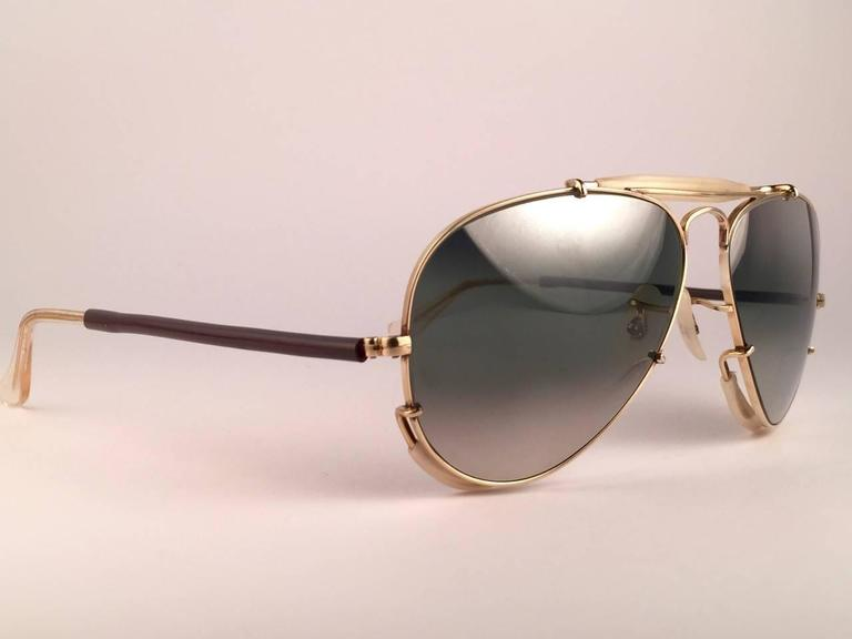 New Ray Ban Deep Freeze 12K Gold Outdoorsman Collectors Item USA Sunglasses 3