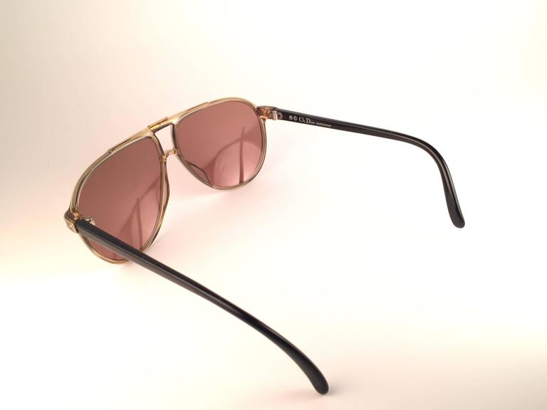 New Vintage Christian Dior Monsieur 2300 20 Optyl Gold Mirror 1970 Sunglasses For Sale 1