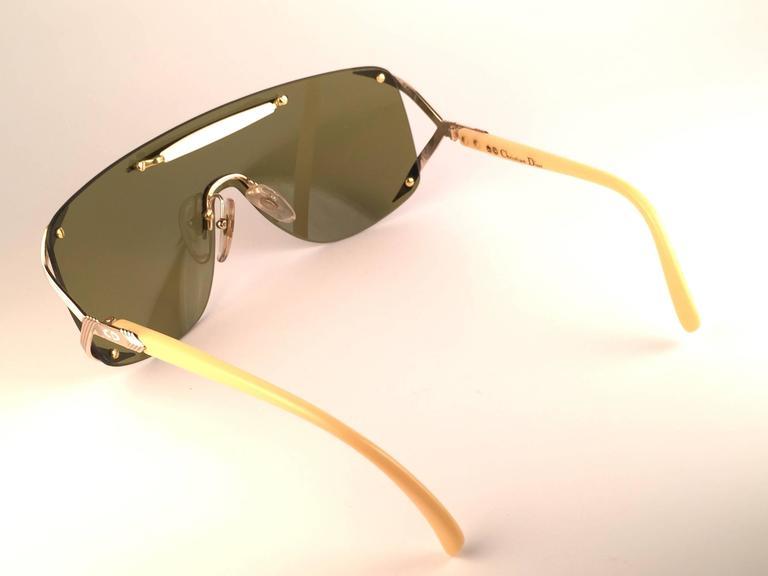 New Vintage Christian Dior 2434 47 Shield Optyl 1970 Sunglasses 7