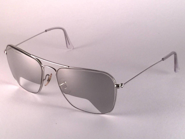 5ecc83d438f New Vintage Ray Ban Caravan 10K White Gold Pilot Rare Item 1970 s B L  Sunglasses at 1stdibs