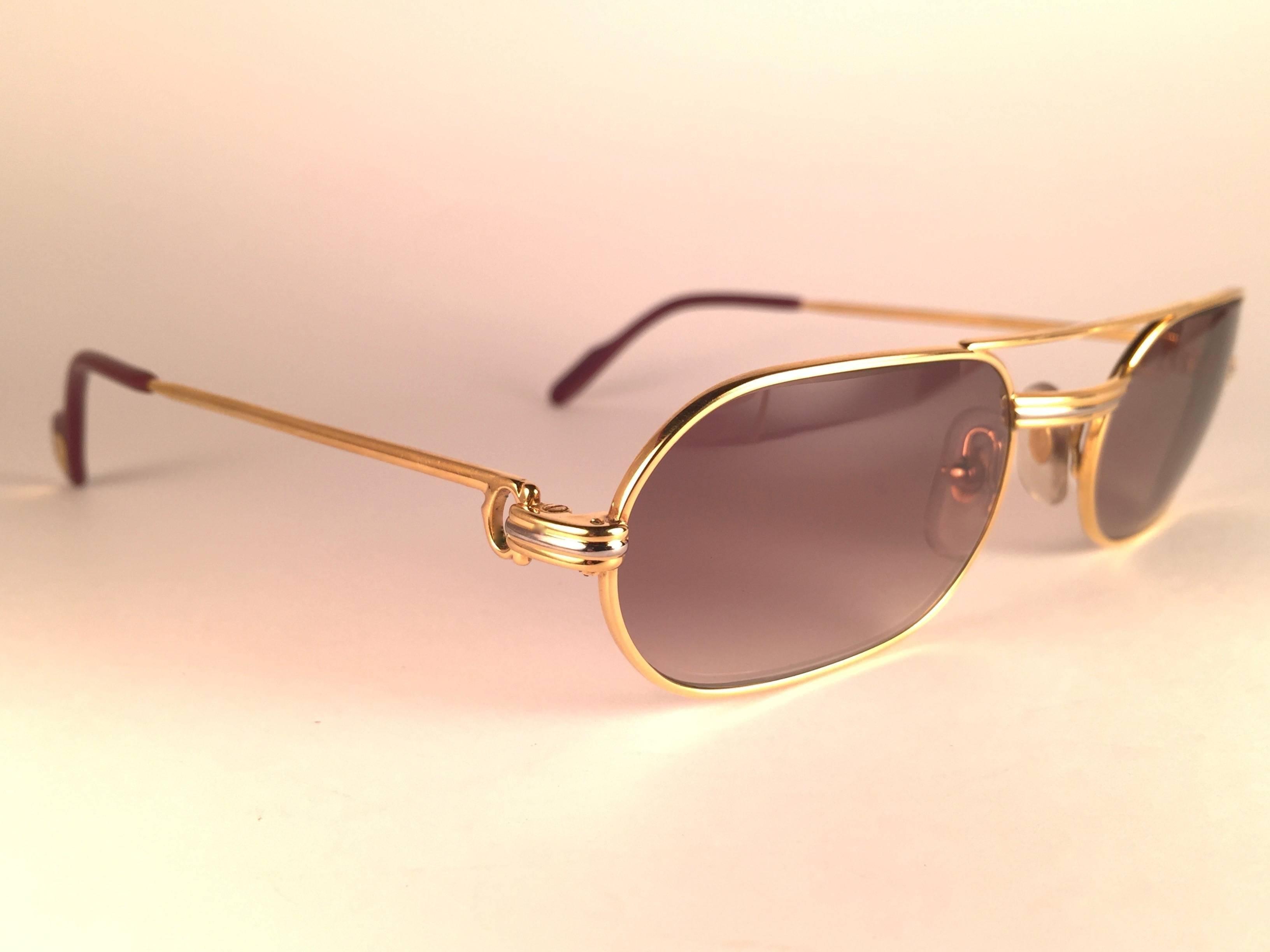 Cartier France Sunglasses Louis Vendome Vintage Medium OPXZkiu