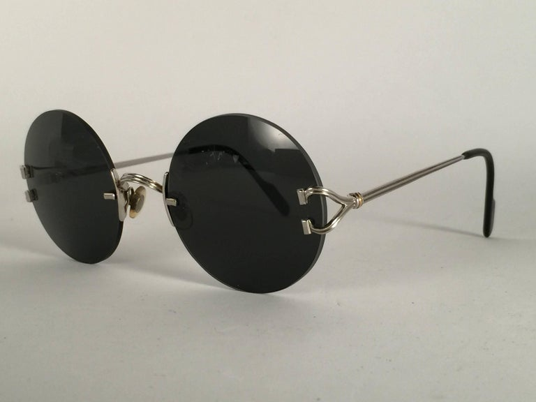 512ba69bcc9 New Cartier Madison Special Edition Round Rimless Platine 50mm ...