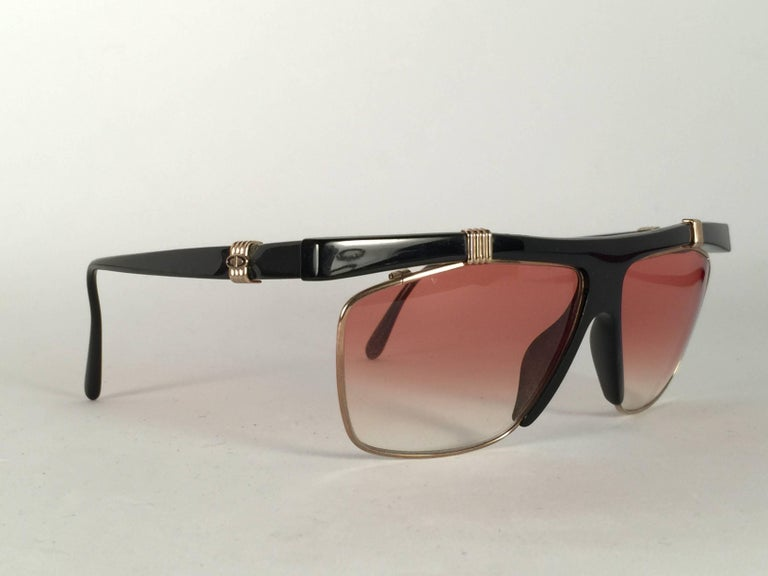 f3c5483f5c1 New Vintage Christian Dior 2555 Black frame with spotless light gradient  lenses. Made in Germany