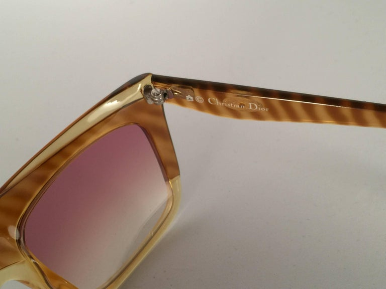 Women's New Vintage Christian Dior 2400 Mask Oversized Optyl Sunglasses 1980's For Sale