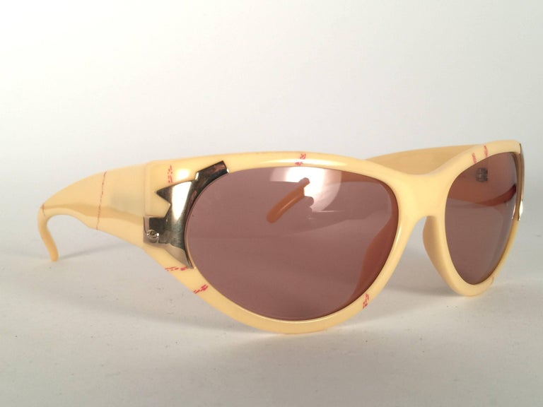 Beige New Vintage Christian Dior 2346 Optyl 1980's Sunglasses Germany For Sale