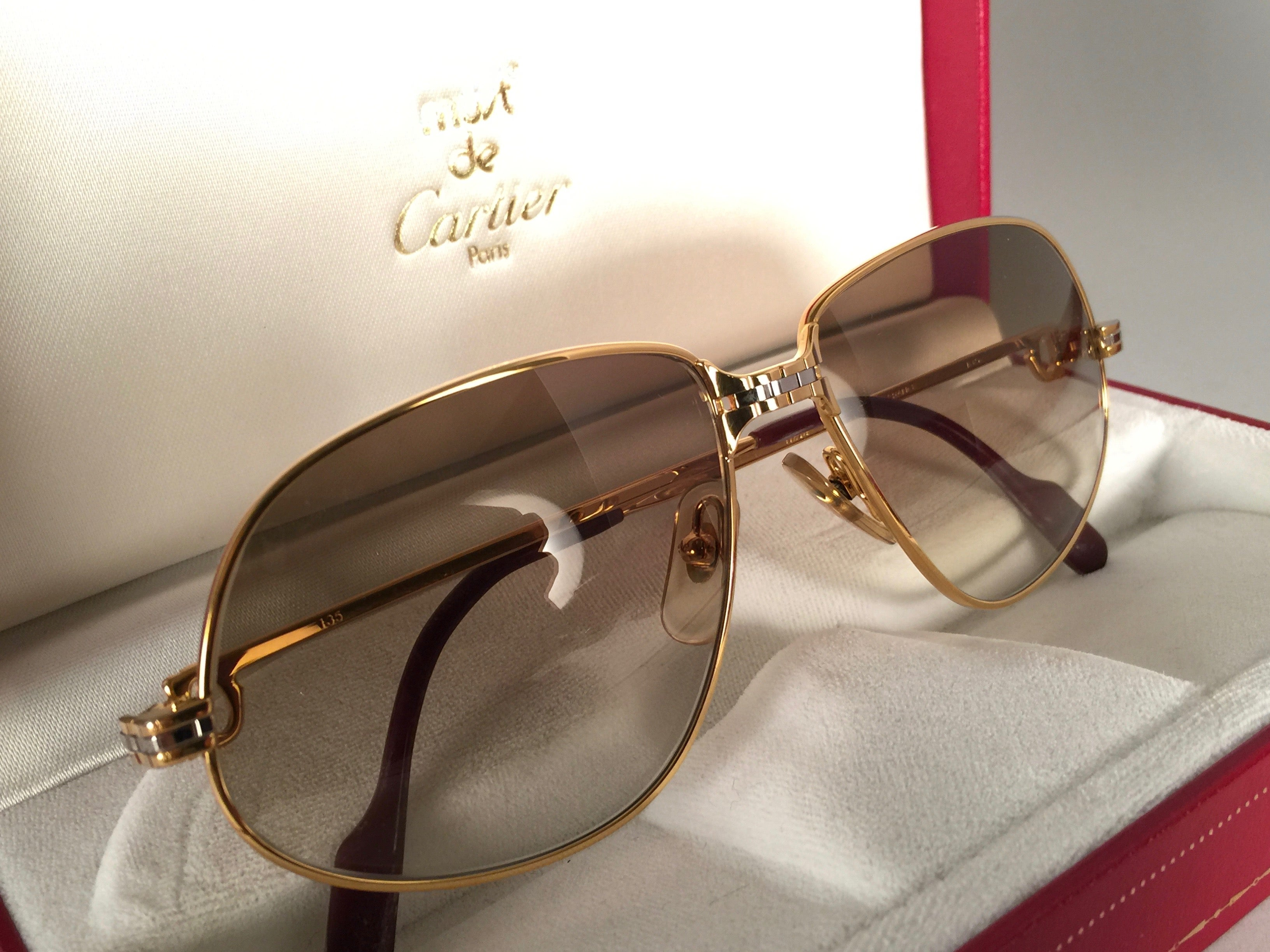 1f23af75ea9c Cartier Panthere Gradient Lenses Medium Vintage Sunglasses France at 1stdibs