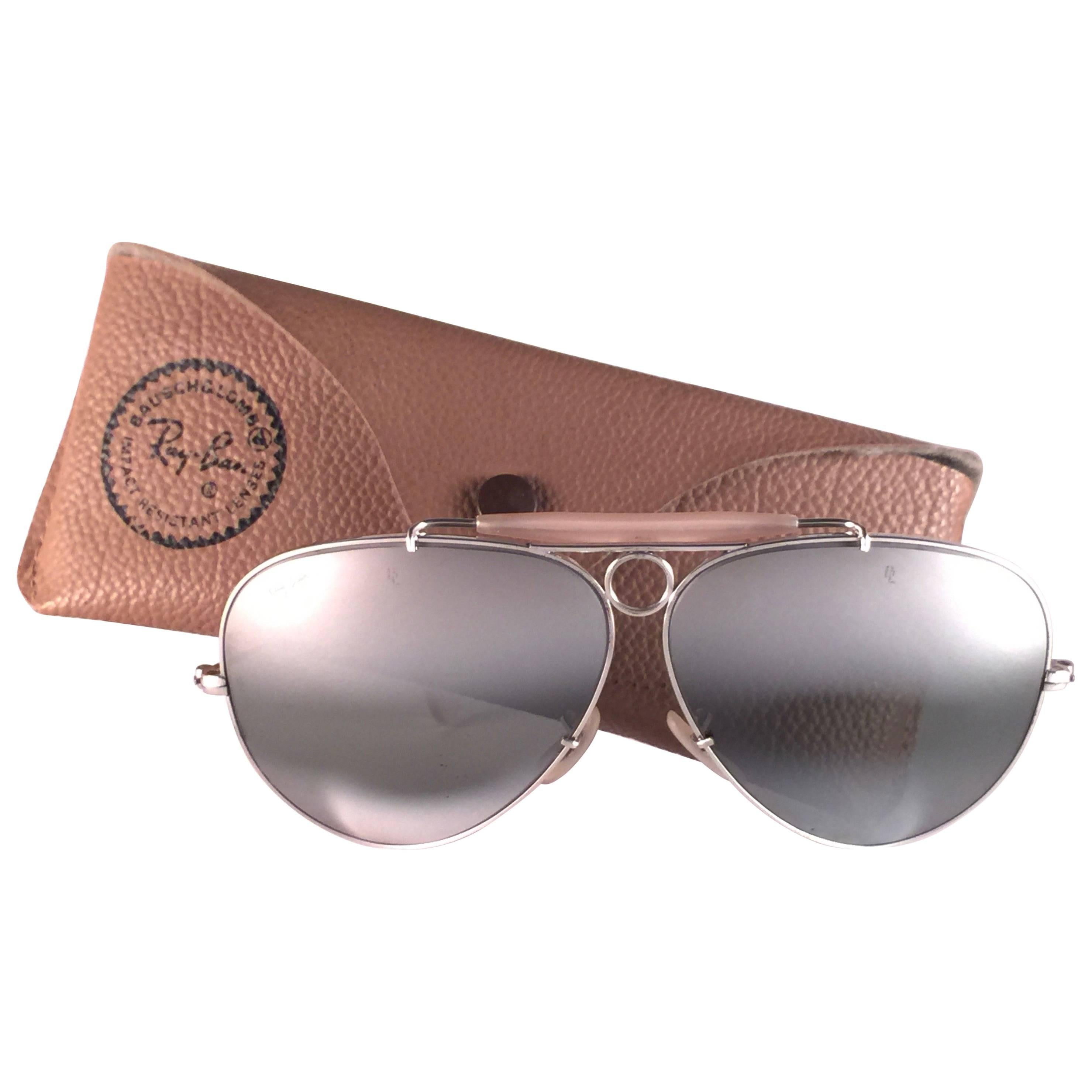 8465a158e4 ... where can i buy ray ban shooter vintage white gold 62mm double mirror  bl sunglasses 1980s