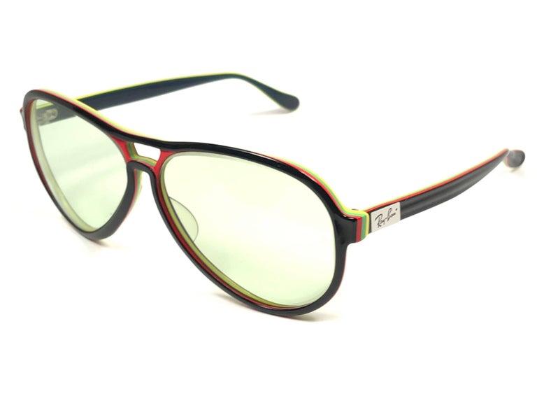 93e13057de646 Purple New Vintage Ray Ban B L Vagabond Rasta Changeable Green Lenses  Sunglasses USA For Sale
