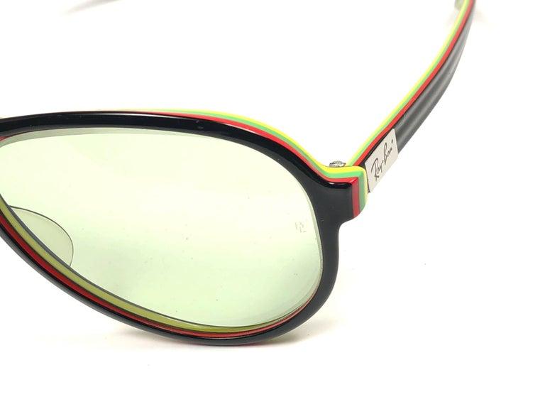 274df72adde1d New Vintage Ray Ban B L Vagabond Rasta Changeable Green Lenses Sunglasses  USA For Sale 1
