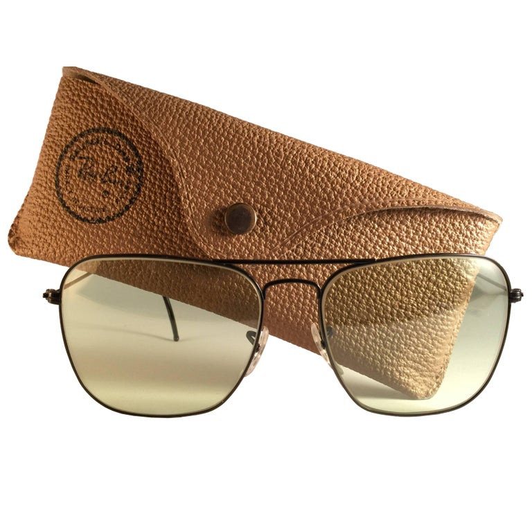 5b0ac38f913 Ray Ban Vintage Caravan Black Grey Changeable Lenses B L Sunglasses