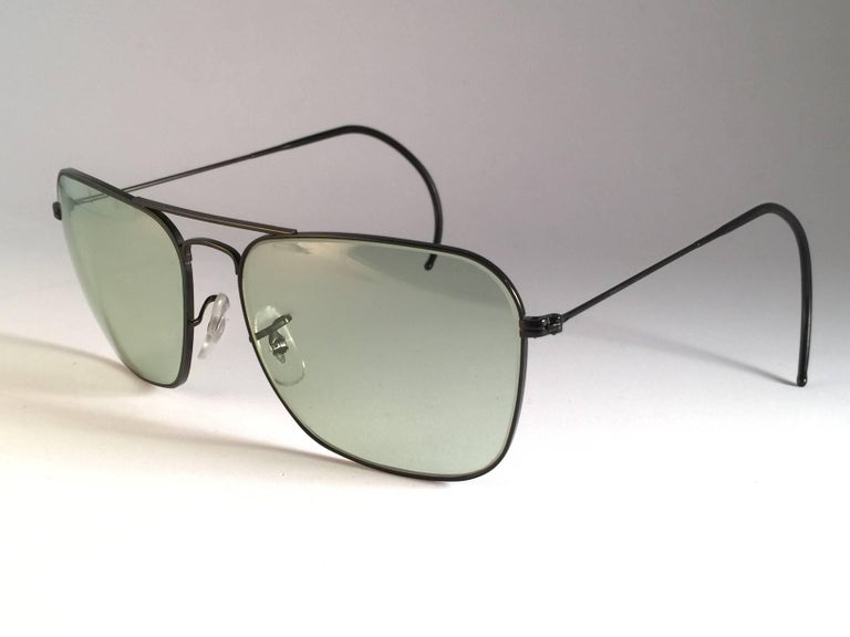 2776edd798f New Vintage Ray Ban Caravan Matte black with grey changeable lenses in 58MM  size. B L