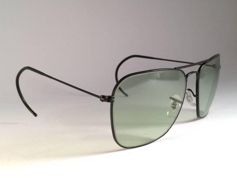 ffd1ea0e67f Gray Ray Ban Vintage Caravan Black Grey Changeable Lenses B L Sunglasses