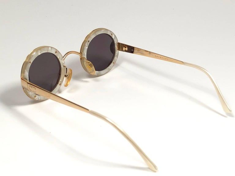 Christian Dior Limited Edition 2918 40 Round Gold Sunglasses, 1980s    In Excellent Condition For Sale In Amsterdam, Noord Holland
