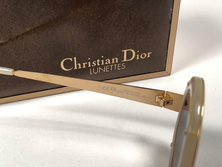 Christian Dior Limited Edition 2918 40 Round Gold Sunglasses, 1980s    For Sale 3
