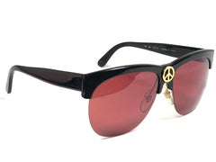 """Mint Vintage Moschino By Persol """" Peace """"  Black 1990 Sunglasses"""