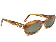 Mint Vintage Moschino Small Medium Tortoise 1990 Sunglasses