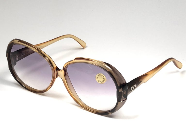 Brown New Vintage Persol Ratti P206 Made in Italy Sunglasses, 1980  For Sale