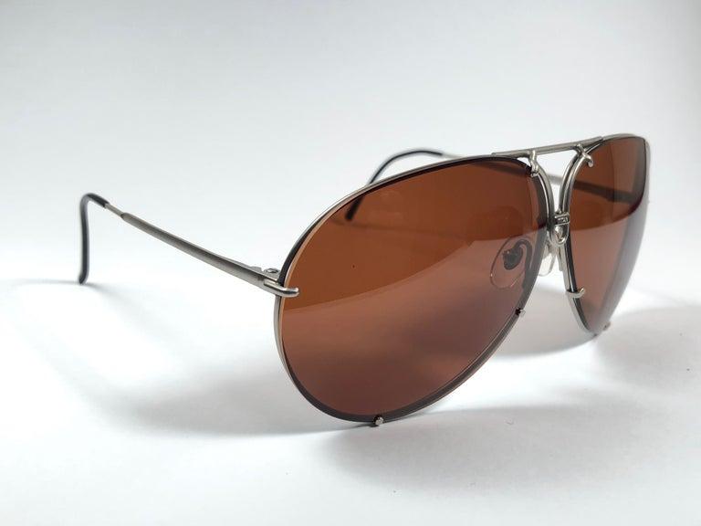 Black New Vintage Porsche Design By Carrera 5621 Titan Matte Large Sunglasses Austria For Sale