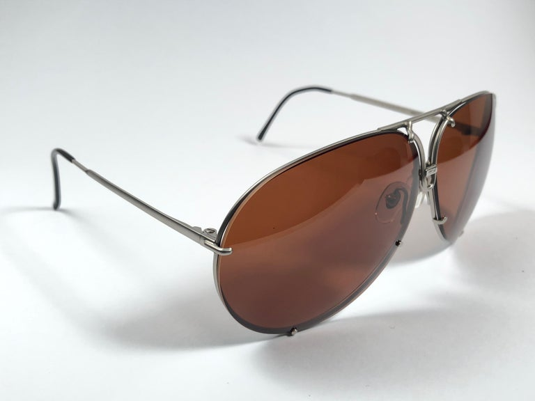 New Vintage Porsche Design By Carrera 5621 Titan Matte Large Sunglasses Austria In New Condition For Sale In Amsterdam, Noord Holland