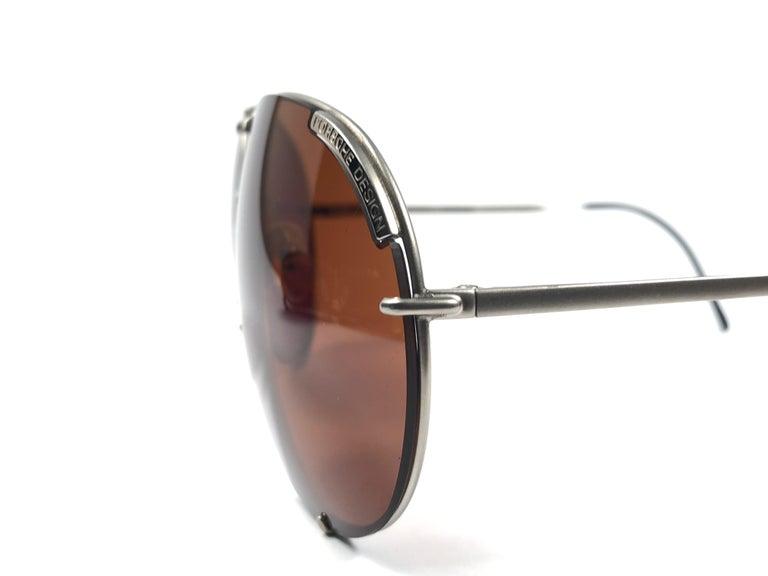 New Vintage Porsche Design By Carrera 5621 Titan Matte Large Sunglasses Austria For Sale 1