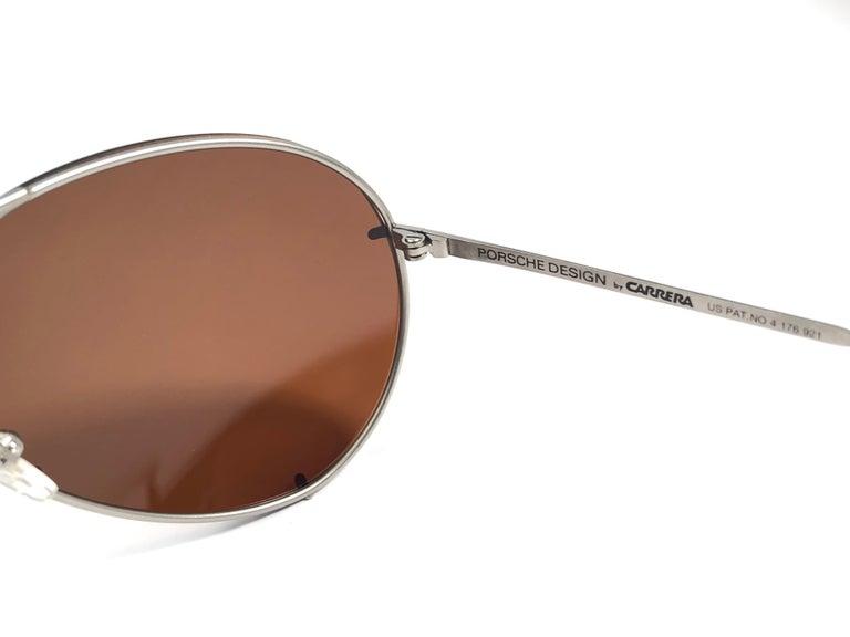 New Vintage Porsche Design By Carrera 5621 Titan Matte Large Sunglasses Austria For Sale 2