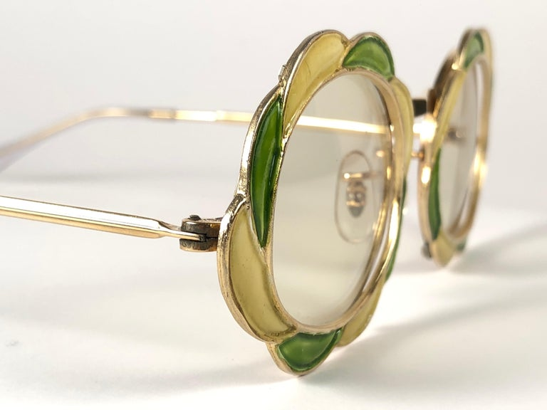 Ultra Rare 1960 Christian Dior Enamelled Collector Item Sunglasses In Excellent Condition For Sale In Amsterdam, Noord Holland