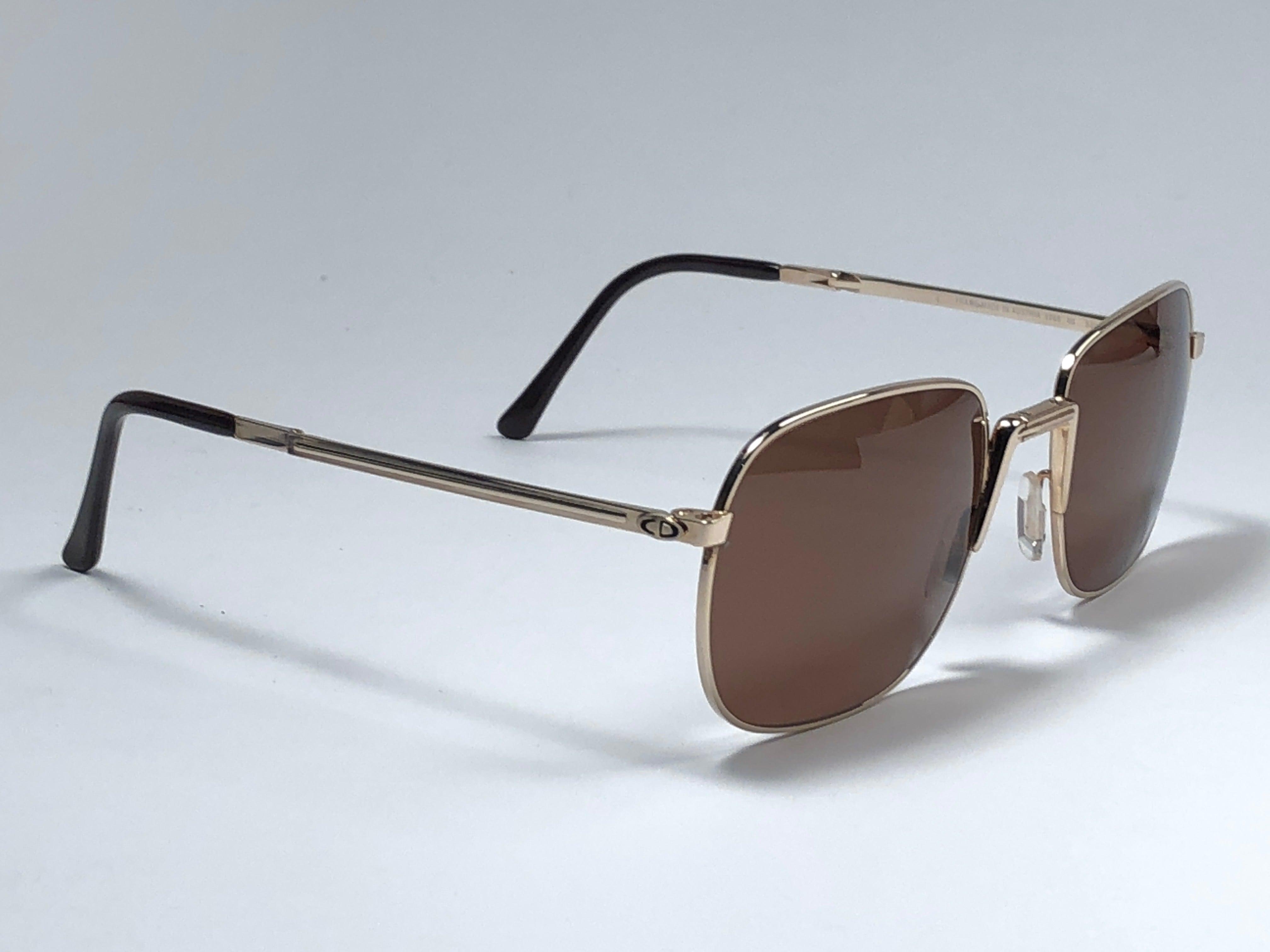 0ccab315abe New Vintage Christian Dior Monsieur 2288 Folding Brown Sunglasses 1970 s  Austria at 1stdibs