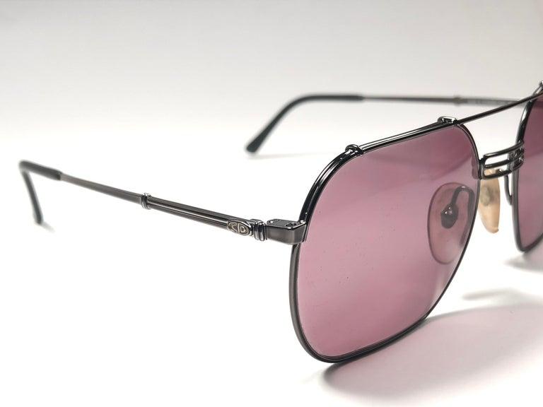 5c33ea46d15 New Vintage Christian Dior Monsieur 2363 Gun Metal Sunglasses 1970 s Austria  In New Condition For Sale