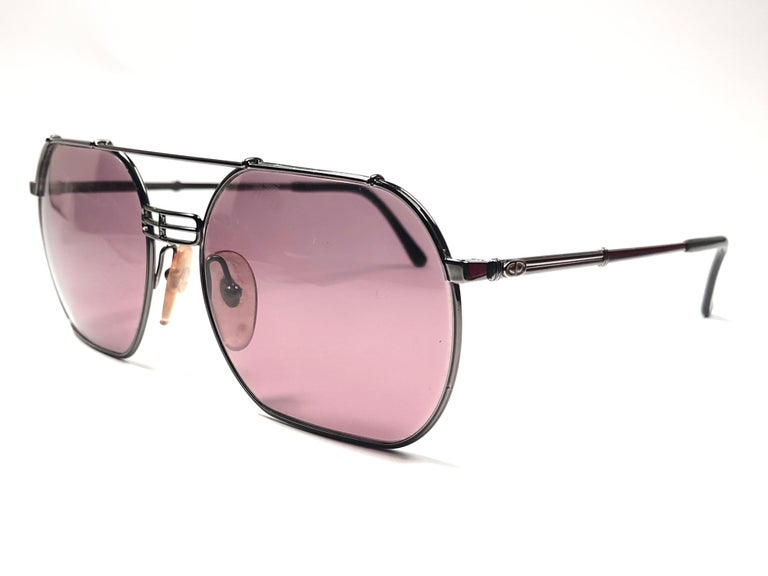 45f8c33704d Men s New Vintage Christian Dior Monsieur 2363 Gun Metal Sunglasses 1970 s  Austria For Sale