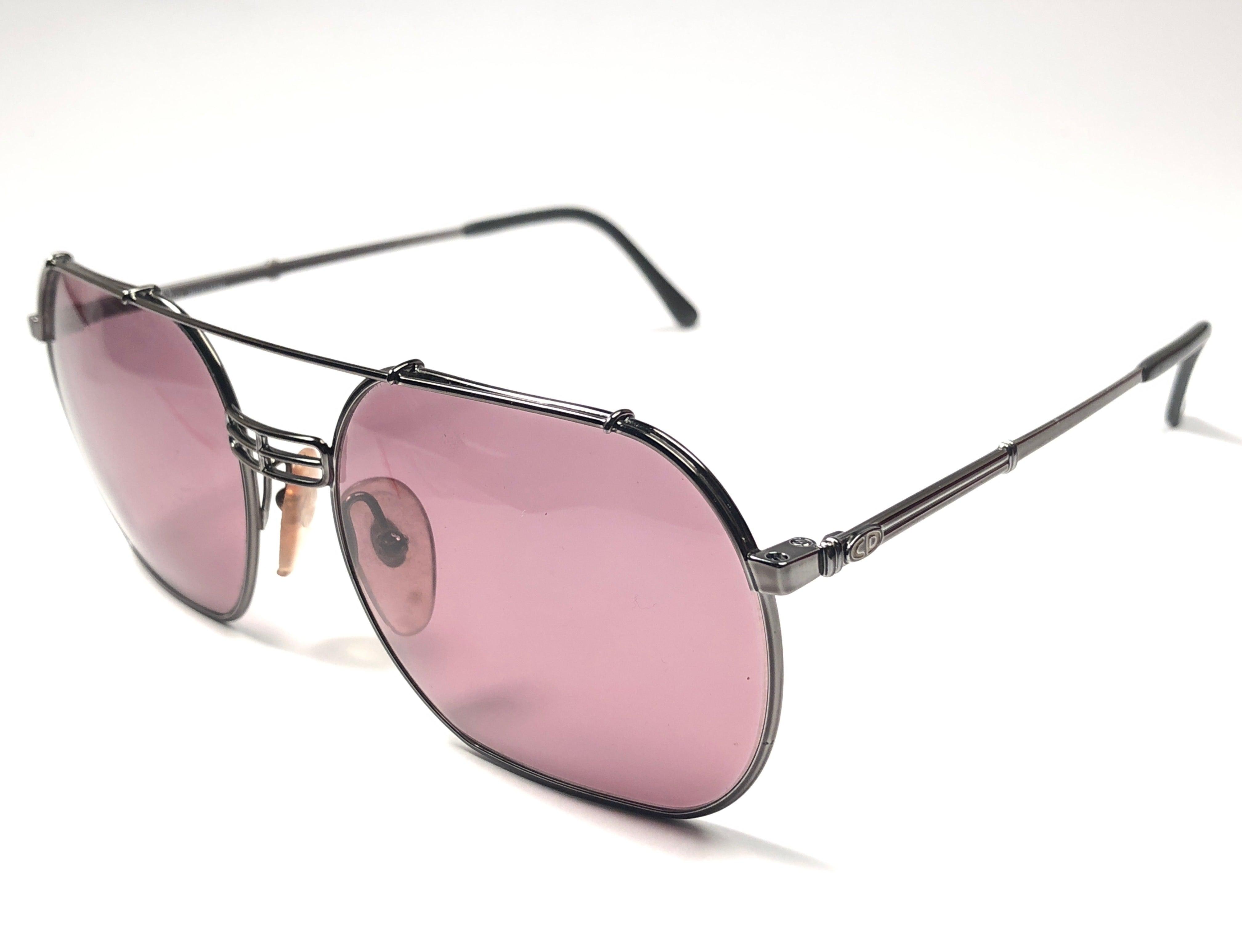 993ec2695ac New Vintage Christian Dior Monsieur 2363 Gun Metal Sunglasses 1970 s Austria  For Sale at 1stdibs