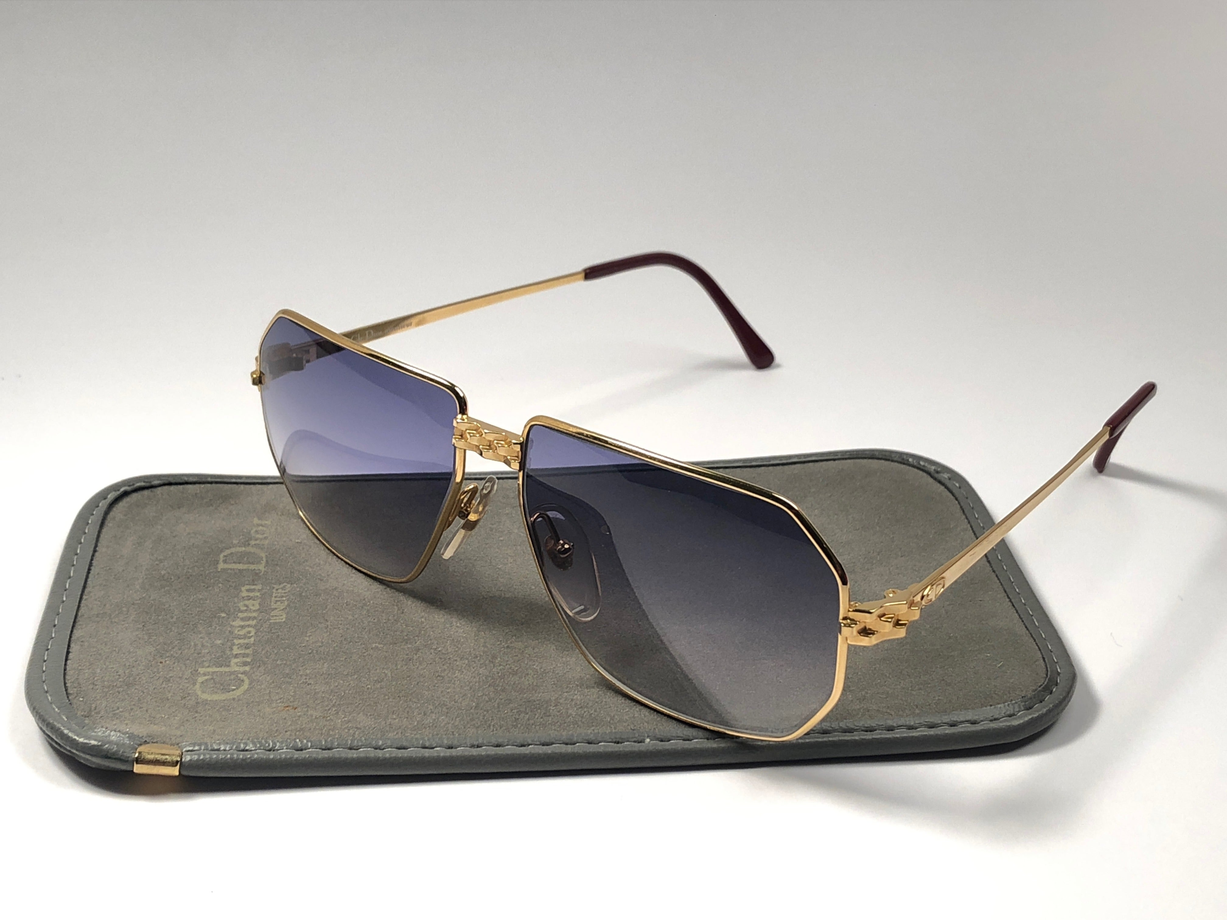 47381d6f4e9 New Vintage Christian Dior Monsieur 2391 Gold Panthere Sunglasses 1970 s  Austria at 1stdibs