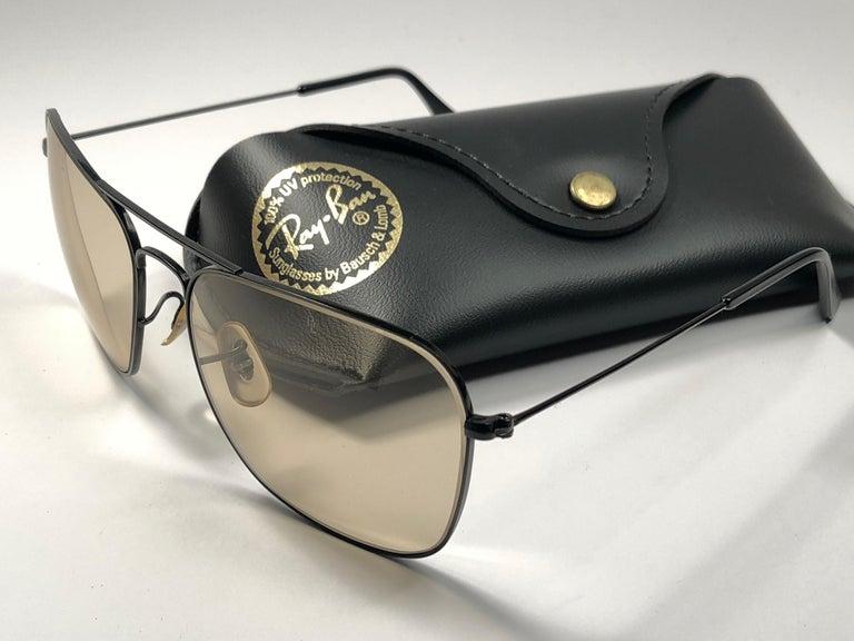 bfbb1827e11 Women s or Men s Ray Ban Vintage Caravan Black Brown Changeable Lenses B L  Sunglasses