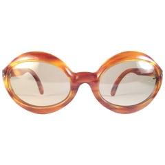 Vintage Pierre Marly Domino Tortoise Avantgarde 1960's Sunglasses