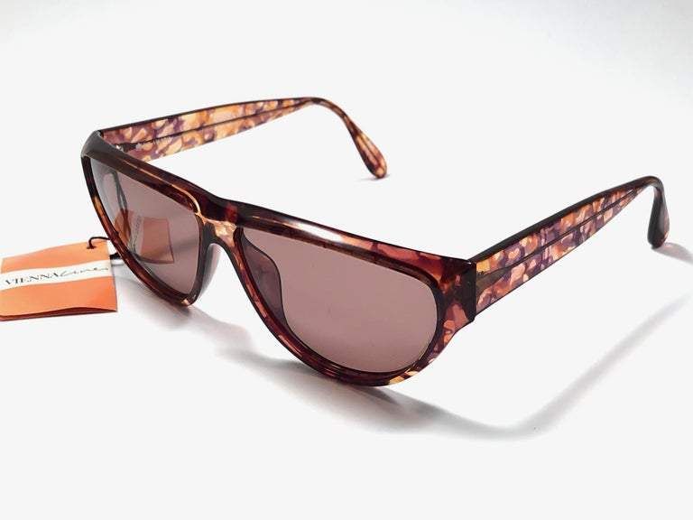 New Vintage Viennaline 1636 Translucent Camouflage Sunglasses Germany 1980 In Excellent Condition For Sale In Amsterdam, Noord Holland