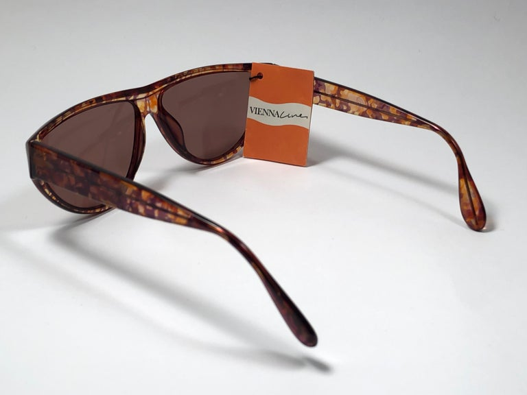 New Vintage Viennaline 1636 Translucent Camouflage Sunglasses Germany 1980 For Sale 1