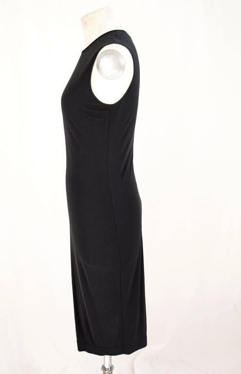 Black Gianfranco Ferrè 1980s sheath dress women's black silk blend size 40 For Sale