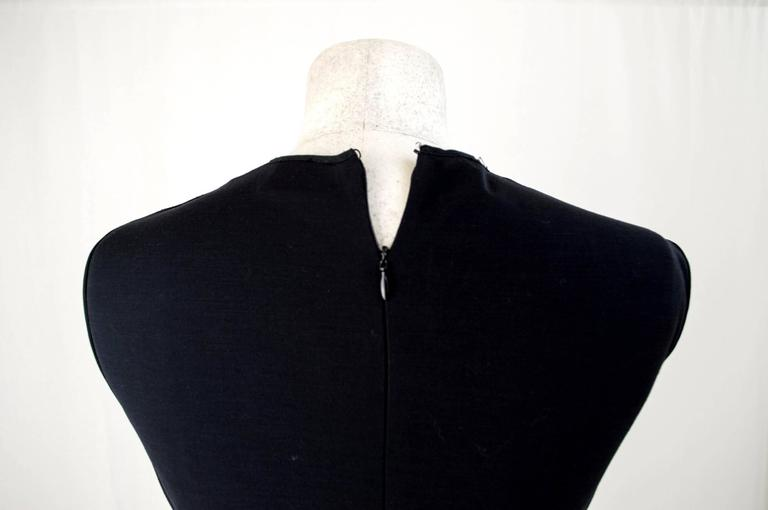 Gianfranco Ferrè 1980s sheath dress women's black silk blend size 40 In Excellent Condition For Sale In Brindisi, IT