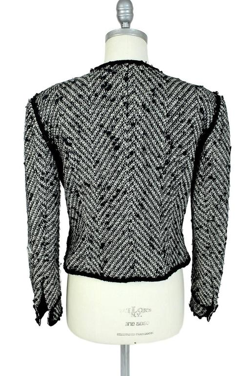 1990s Moschino Milano Gray Wool And Mohair Tweed Boucle