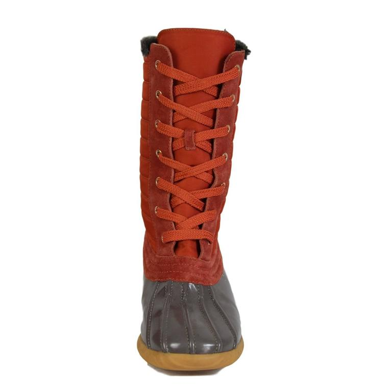 2000s Marc Jacobs Orange Duck Boots Shoes In New Never_worn Condition For Sale In Brindisi, IT