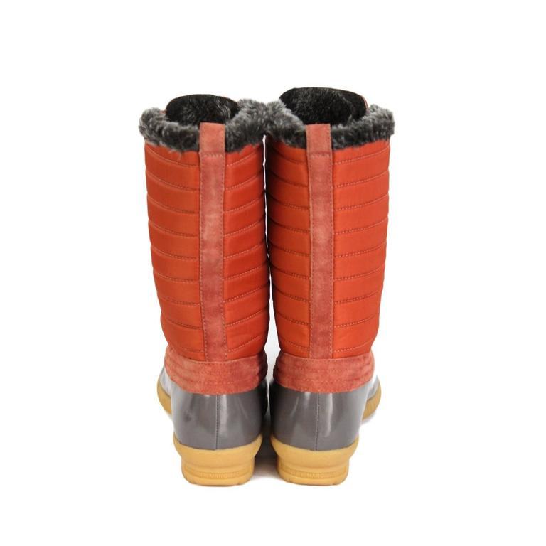 2000s Marc Jacobs Orange Duck Boots Shoes 4