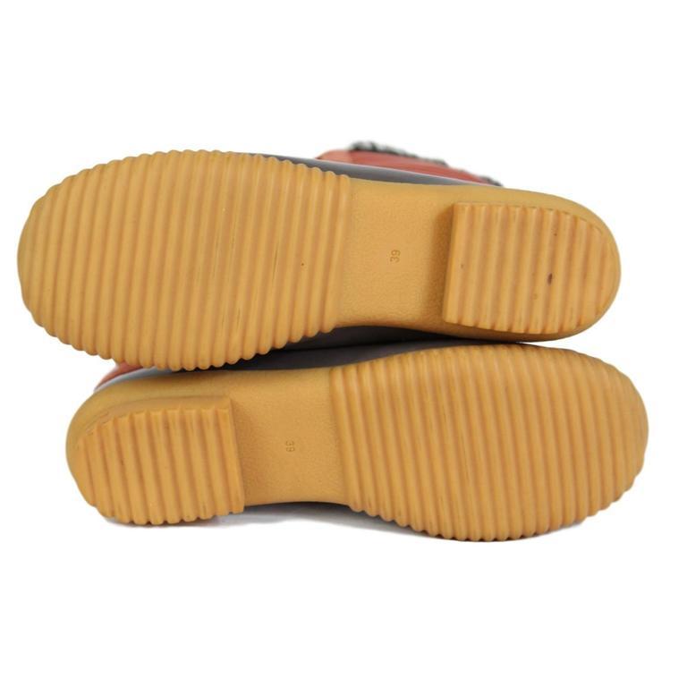 2000s Marc Jacobs Orange Duck Boots Shoes 6