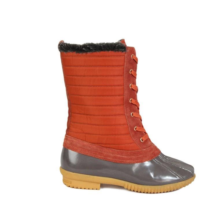 2000s Marc Jacobs Orange Duck Boots Shoes 7
